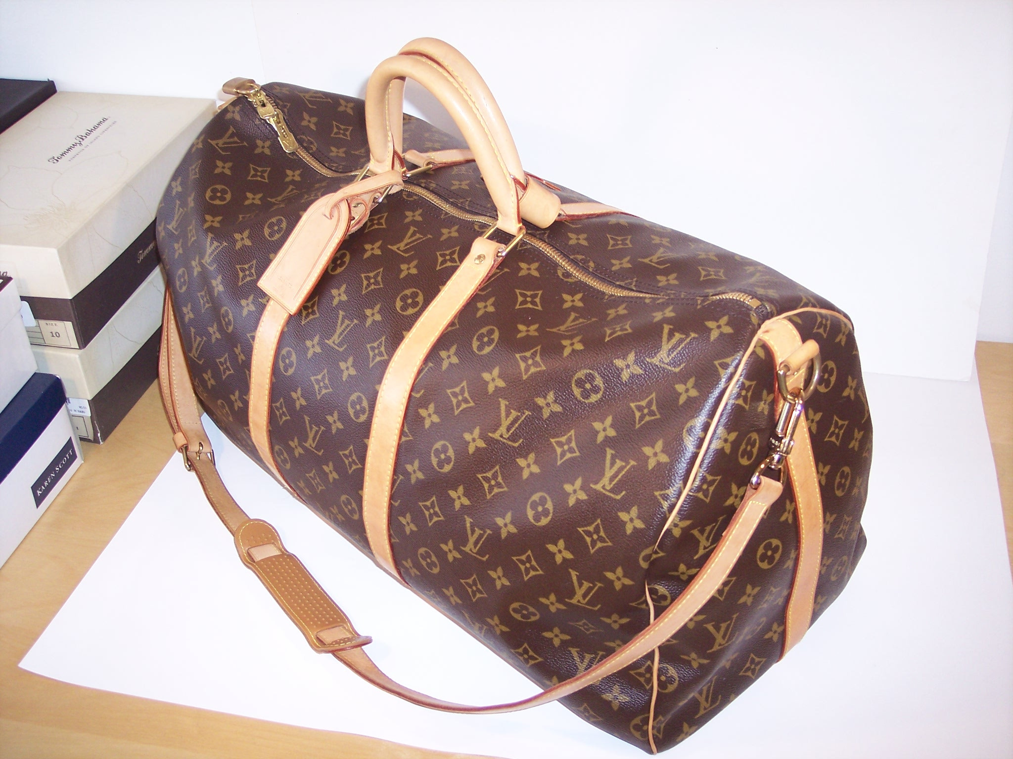 louis vuitton keepall luggage tag