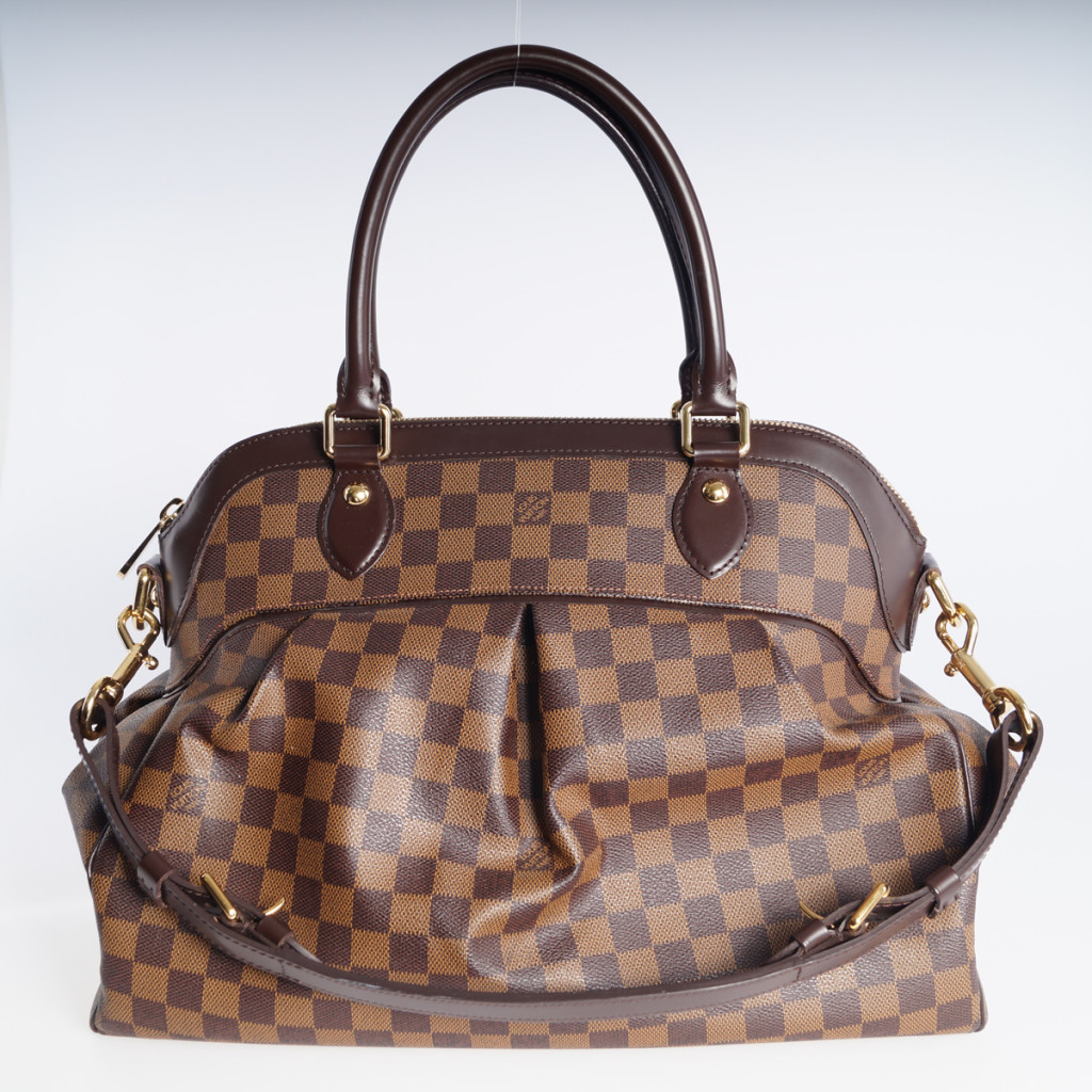 louis vuitton damier ebene trevi pm handbag