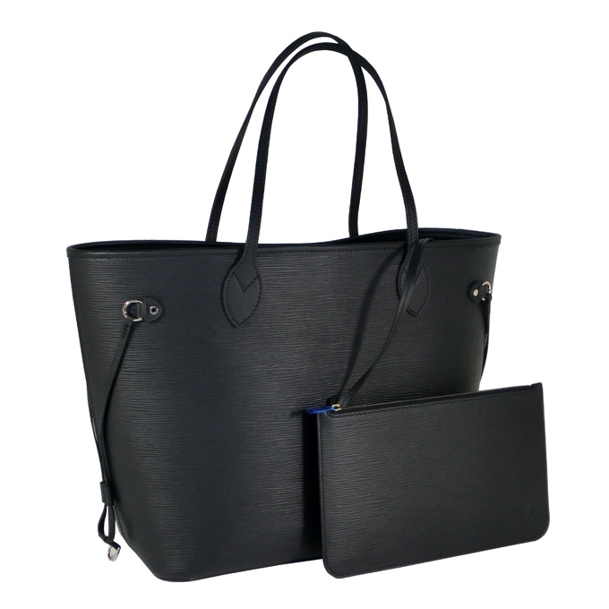 louis vuitton neverfull mm epi leather tote black